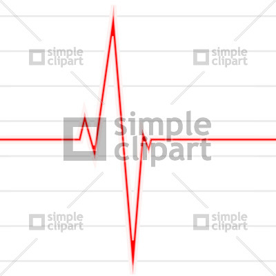 Pulse Trace, electrocardiogram Vector Image #602.