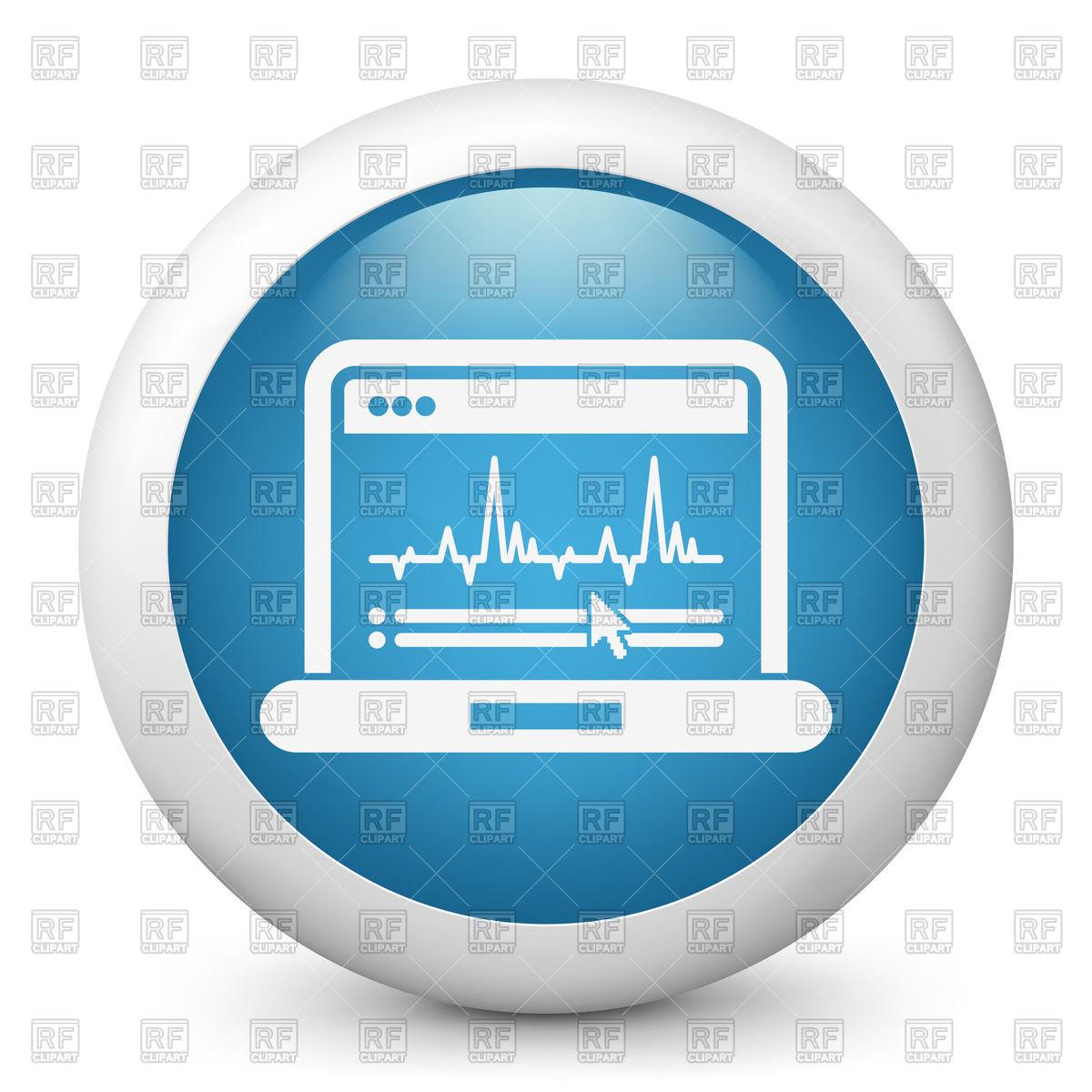 Pulse trace icon.