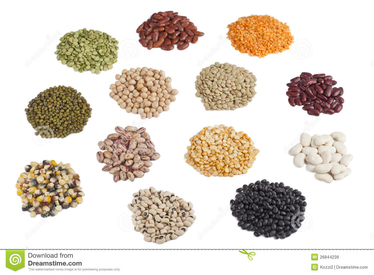 Variety Of Pulses Stock Photos.