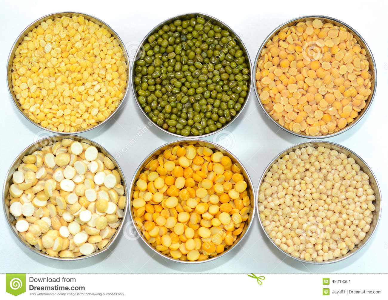 Lentils And Pulses Stock Photo.
