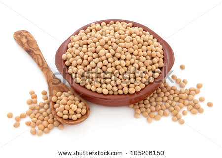 Soya Bean Pulses Wooden Spoon Forming Stock Photo 62088886.