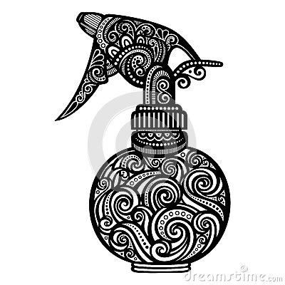 Hairspray Stock Illustrations.