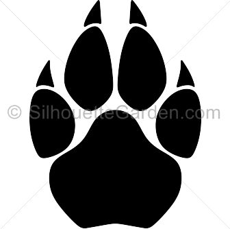 8637 Paw free clipart.