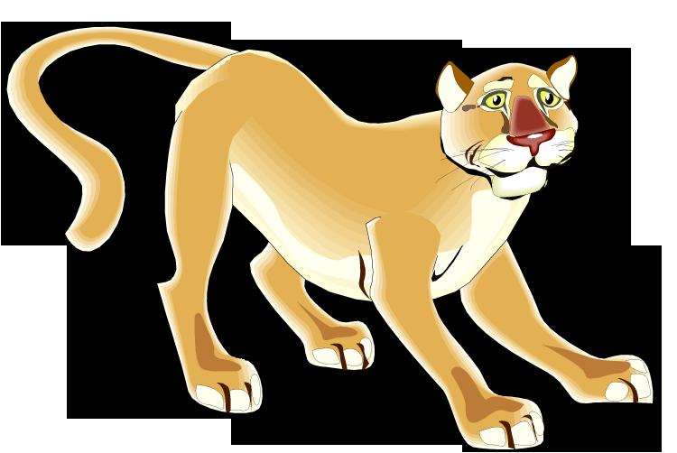 Puma Cougar Clipart.