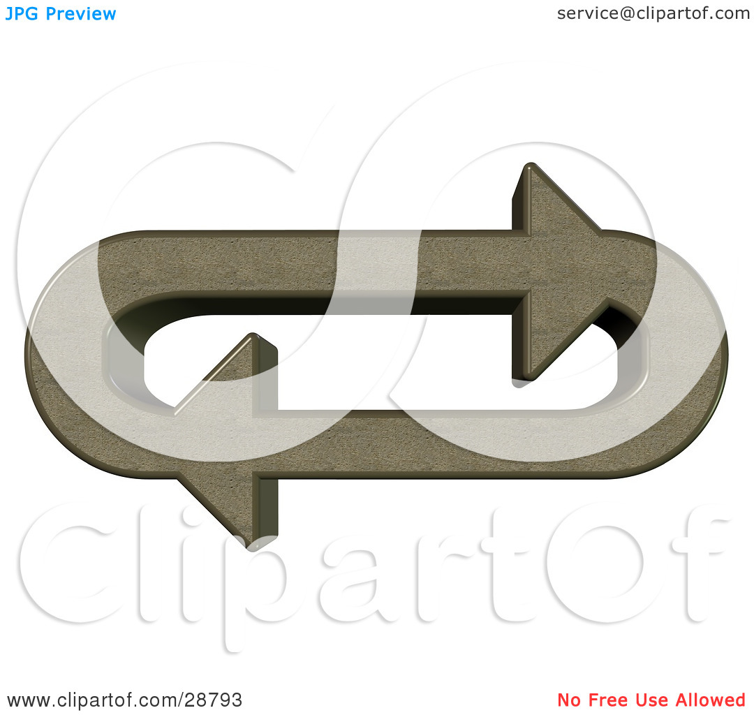 Clipart Illustration of an Oval Of Pumice Stone Arrows Moving In A.