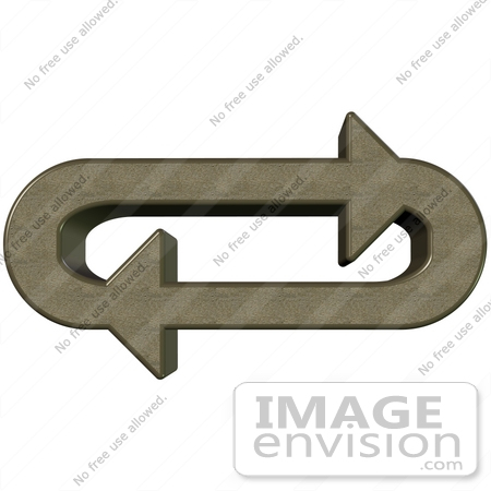 Clip Art Graphic of Pumice Stone Arrows Circling In An Oval In A.