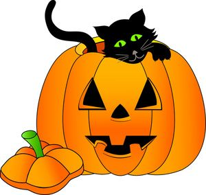 Happy Halloween Pumpkin Clipart.