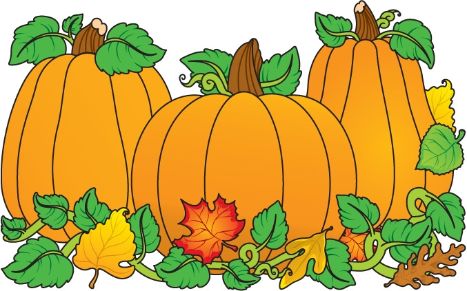 Apple and pumpkin clipart.