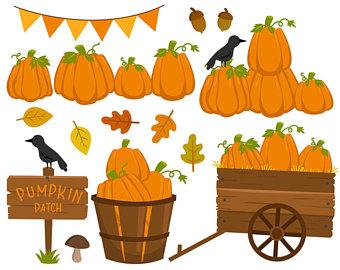 Pumpkin patch autumn clip art studio.