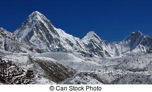 Stock Photographs of Mt. Pumori, Everest Region.