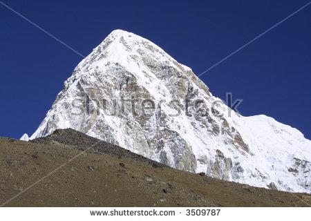 Pumori And Kala Pattar Mountain Peak.