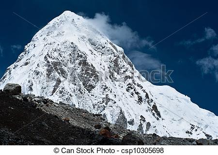 Stock Photographs of Pumo Ri Peak.