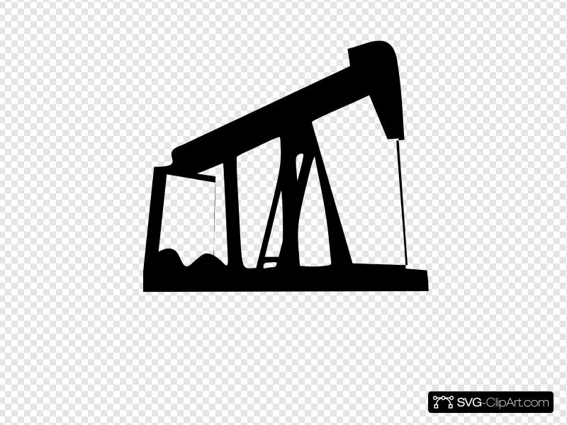 Pump Jack Clip art, Icon and SVG.