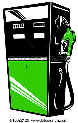 Stock Illustrations of Fuel Pump Station Retro k16022120.