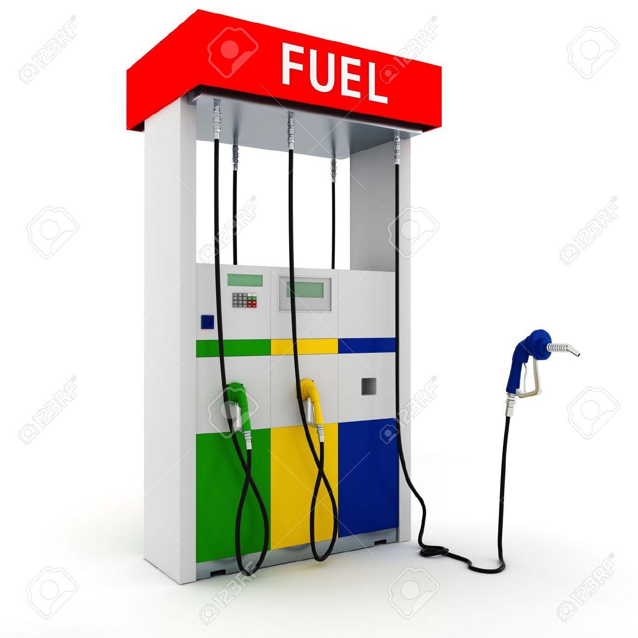 Gas station pump clipart.