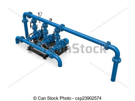 Stock Illustrations of Technology. Illustration pump station of.