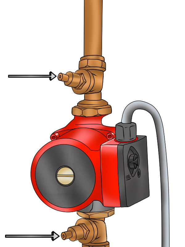 How to replace a boiler pump head.