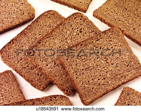 Stock Photography of Pumpernickel Bread.