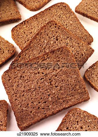 Stock Image of Pumpernickel Bread.