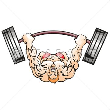 Pumping Iron Clipart.