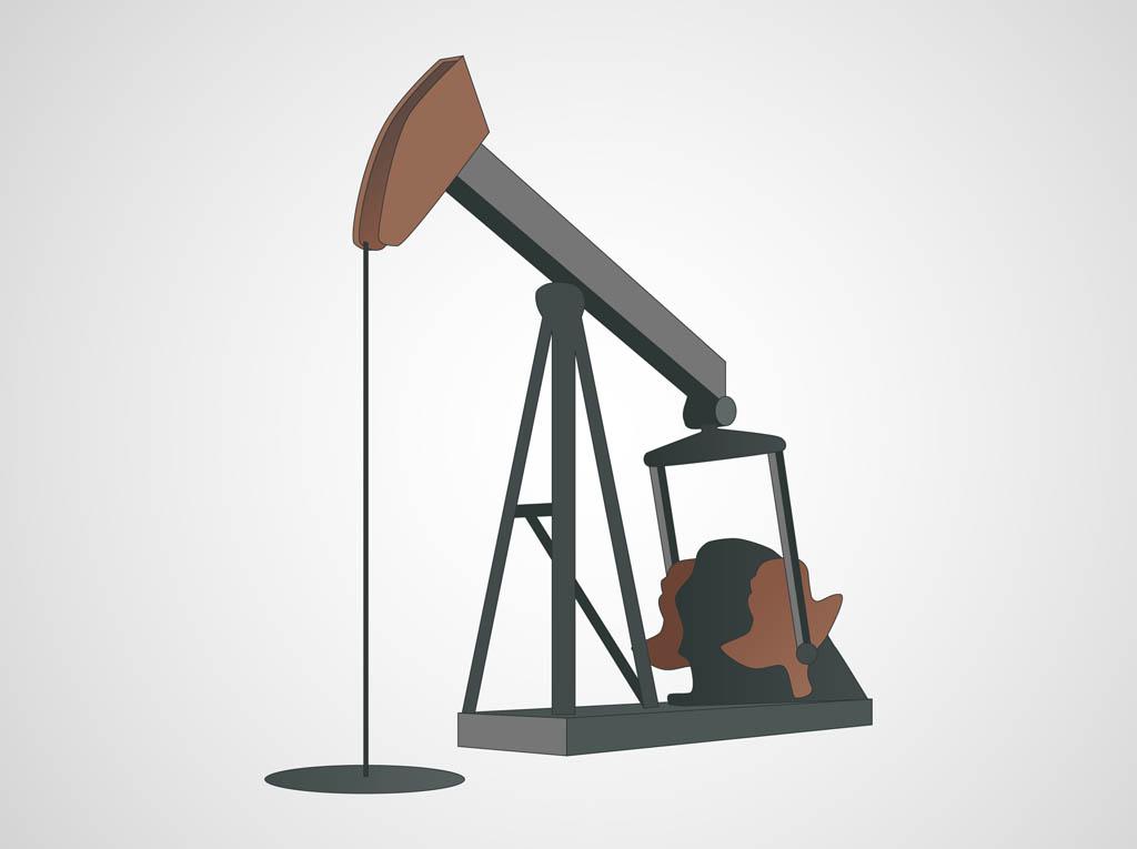 Oil Pump Vector Vector Art & Graphics.