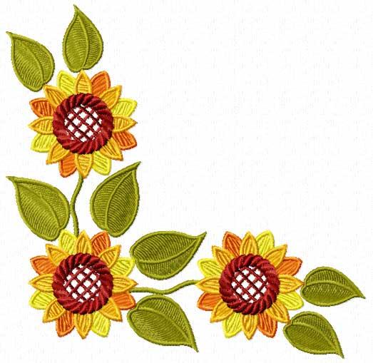Sunflower Border Design.
