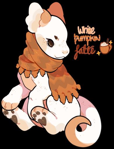 White Pumpkin Latte Plush Dragon Auction (SOLD) by stormcat on.