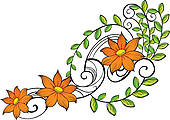 Pumpkin Flower Clipart.