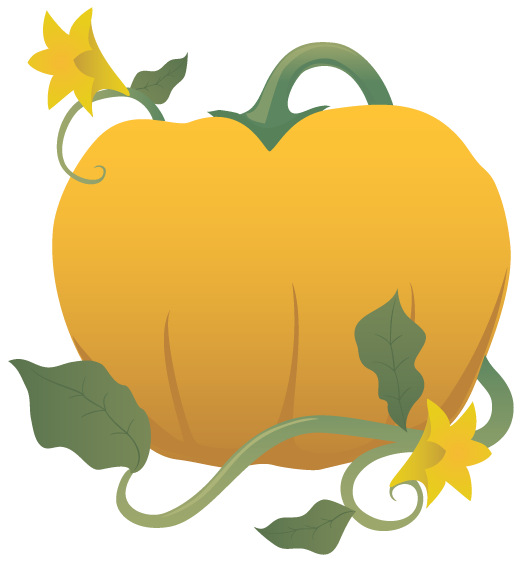 Pumpkin Flower Clip Art.
