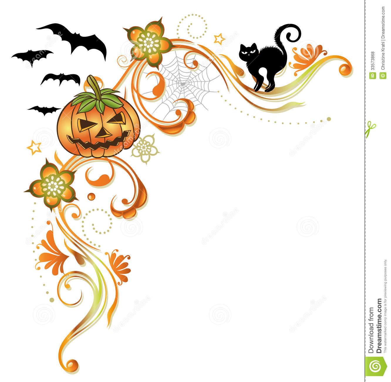 Halloween Pumpkin Border Clip Art.