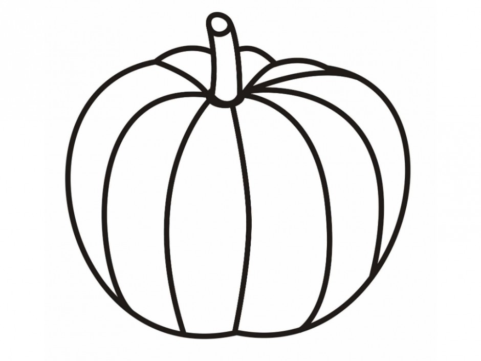 Pumpkin Line Art.
