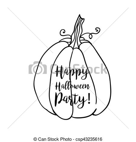 Vector Clip Art of Coloring book page design with witch accessory.