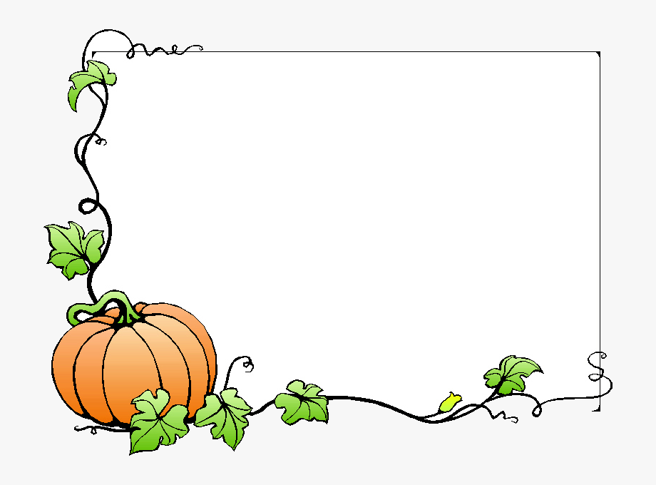 Fall Free Borders Clip Art On Transparent Png.