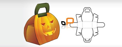 Pumpkin box, vector graphics.