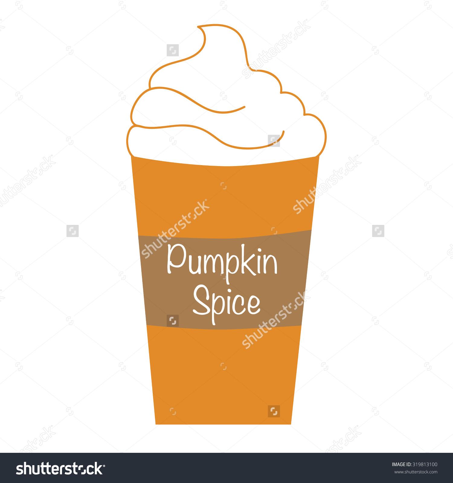 Pumpkin latte clipart.