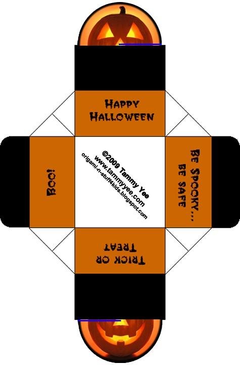 Origami n' Stuff 4 Kids: Halloween Crafts and Origami: Pumpkin Box.