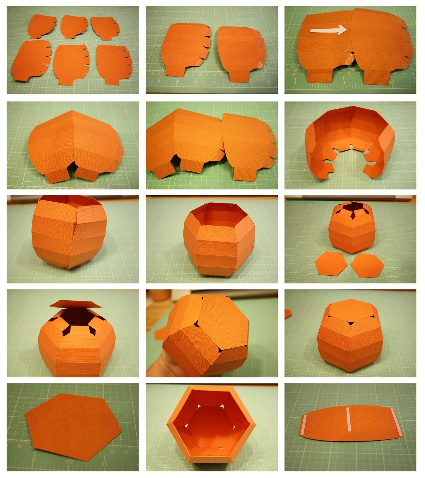 Bits of Paper: 3D Pumpkin Box!.