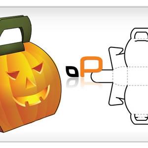 Pumpkin Box Vector Template.