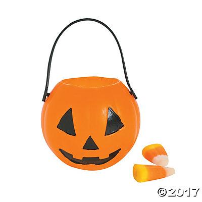 Mini Pumpkin Candy Buckets.
