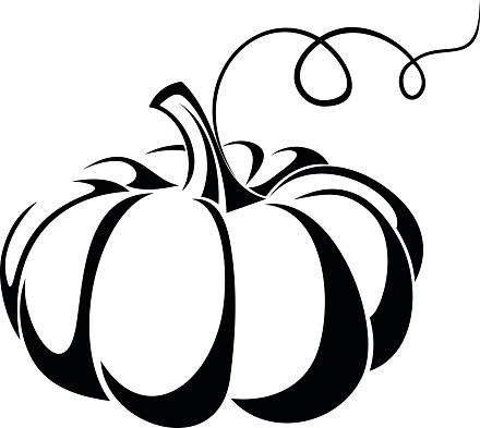 Pumpkin black and white black and white autumn pumpkin clip art.