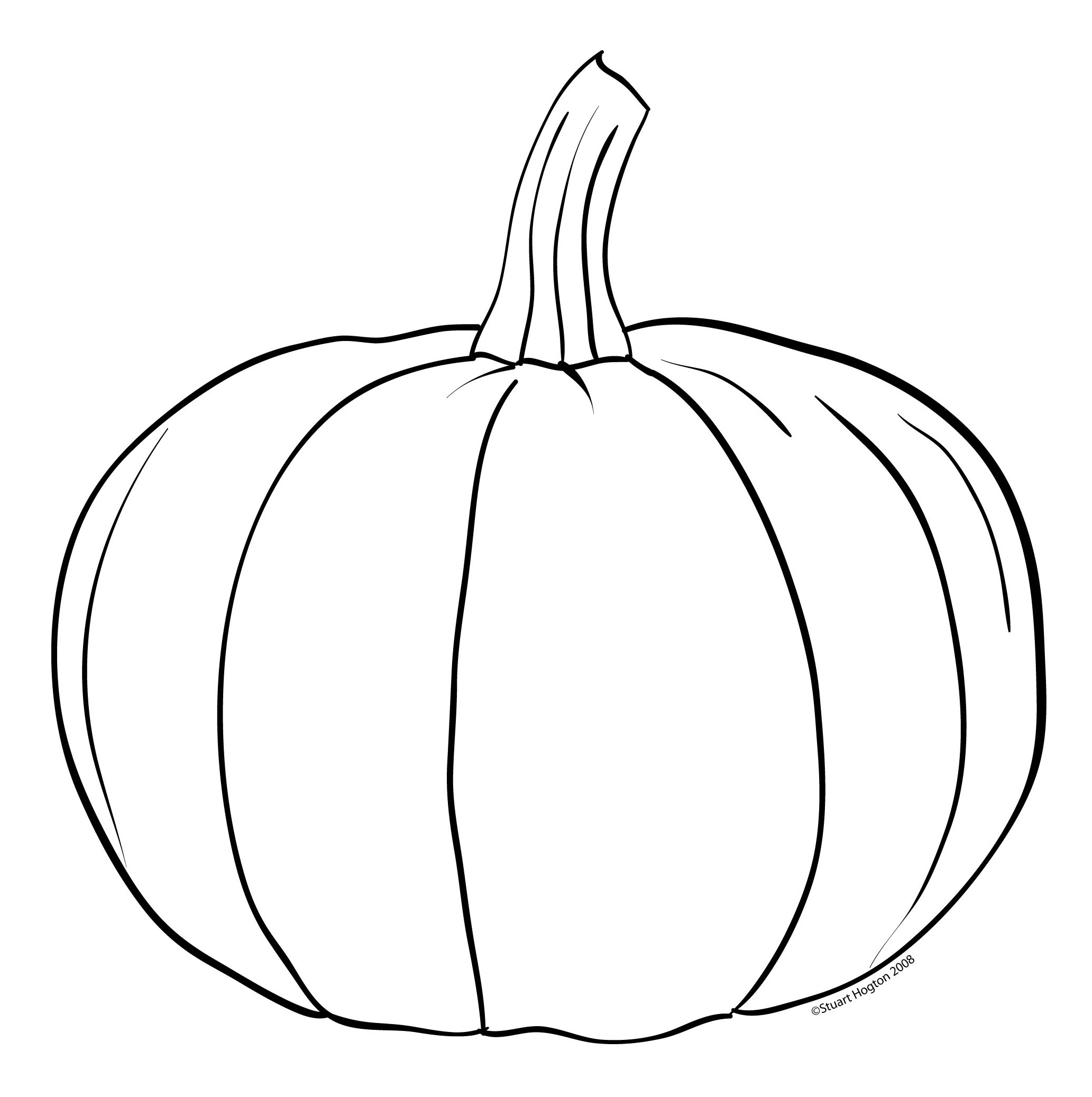 Pumpkin Black And White Pumpkin Clipart Black And White 8 in.