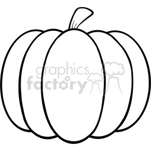 6601 Royalty Free Clip Art Black and White Pumpkin Cartoon Illustration  clipart. Royalty.