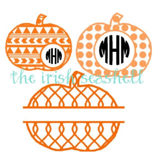 Pumpkin svg dxf for silhouette cameo aztec, chain, and polka dot.