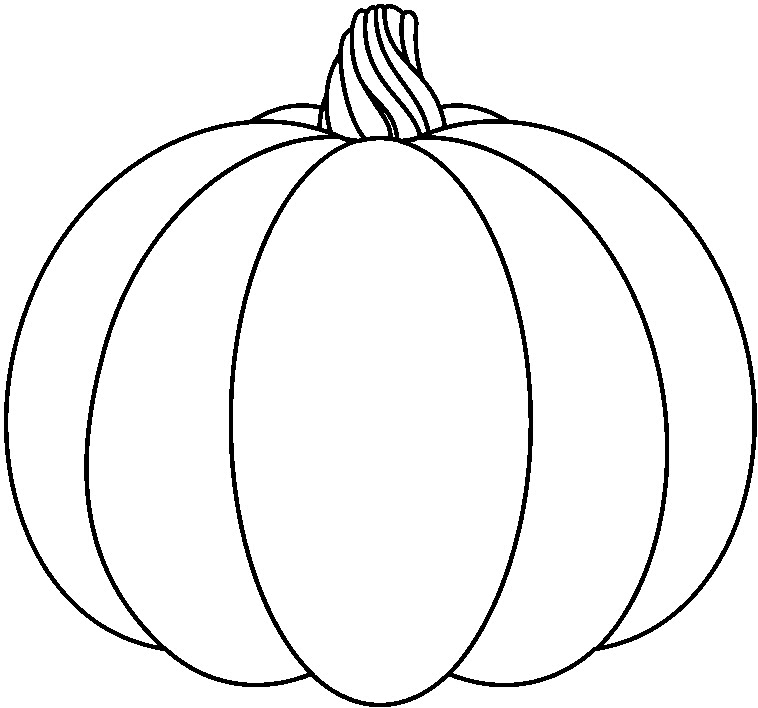 Pumpkin black and white pumpkin with dotted lines clipart.