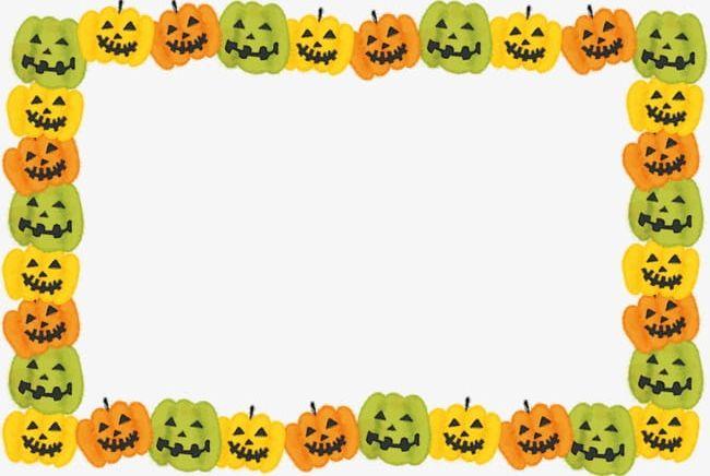 Halloween Pumpkin Frame Border PNG, Clipart, Border Clipart.