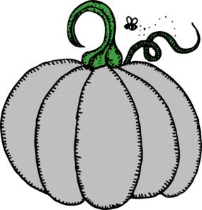 Gray Pumpkin Clip Art at Clker.com.
