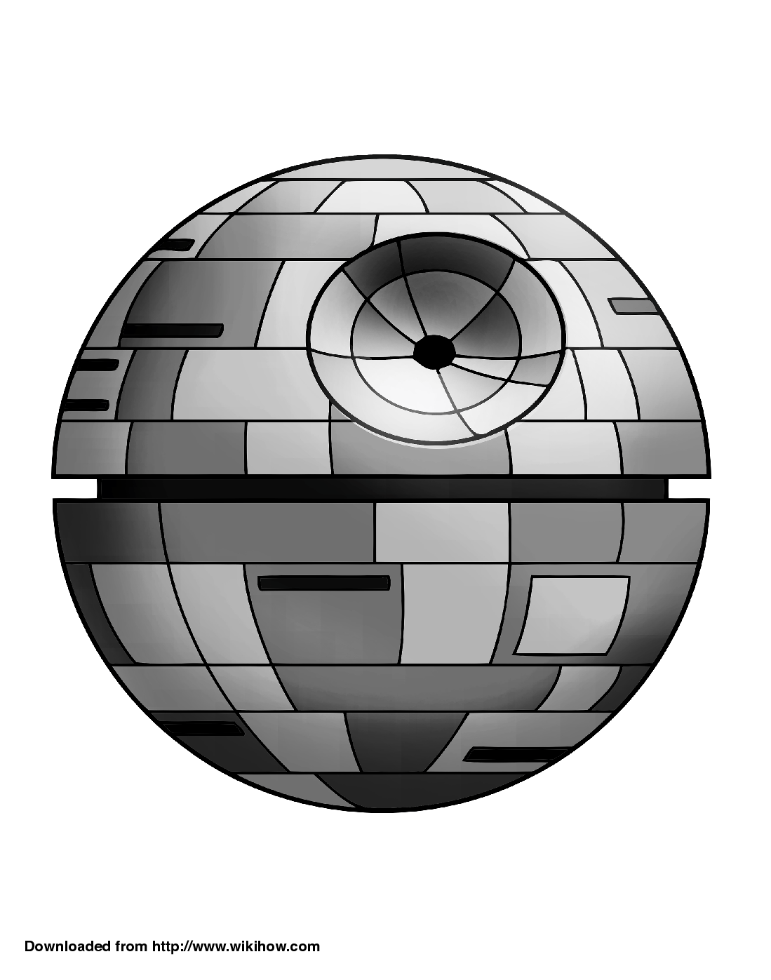 Printable Death Star Pumpkin Template.