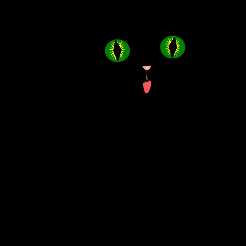 Cartoon Black Cat.