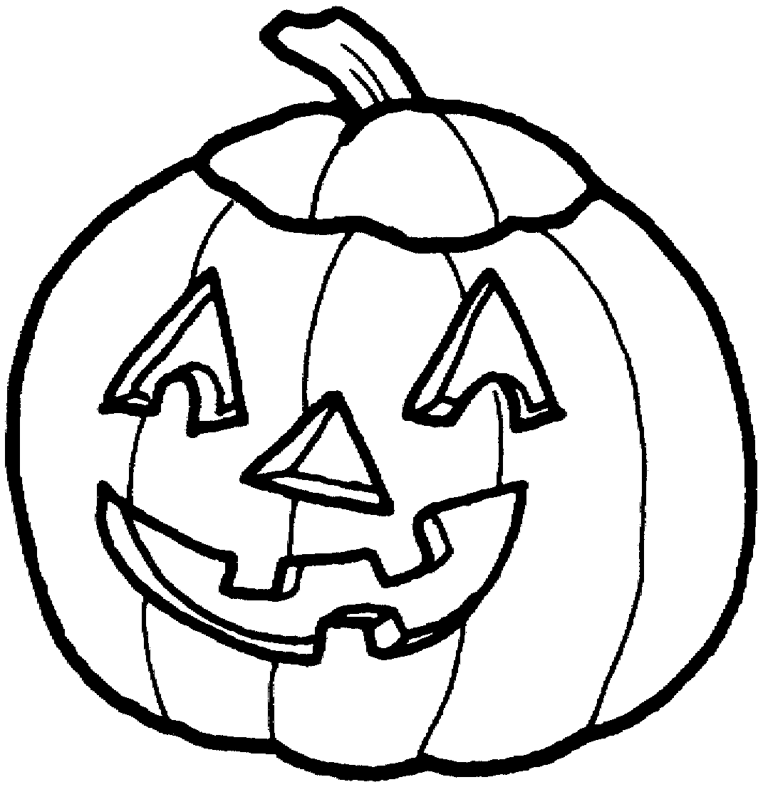 Pumpkin Clipart Coloring For Kids.