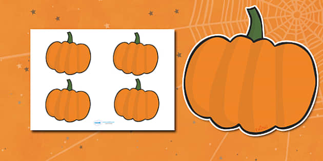 Editable Halloween Pumpkin (Small).